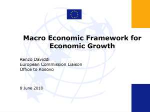 Macro Economic Framework for Economic Growth
