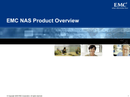 EMC NAS Product Overview