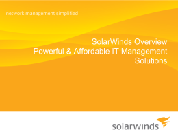 SolarWinds PowerPoint Template & Sample Slides