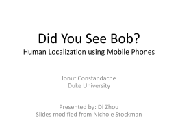 Did You See Bob? Human Localization using
