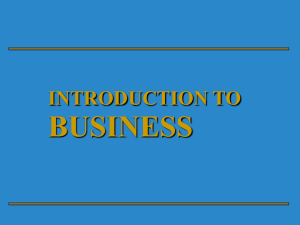 Chapter 1 - An Introduction to Finance