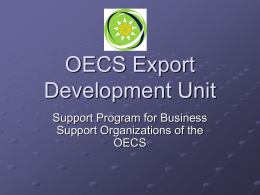 Support Program for Business Support Organizations of the OECS