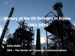 History of the Oil Refinery in Rijeka 1882