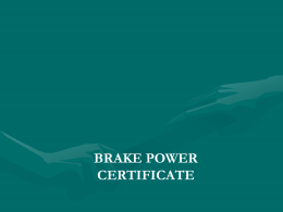 brake power certificate