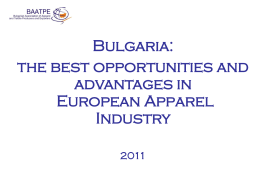 Bulgaria - best opportunities and advantages for the European