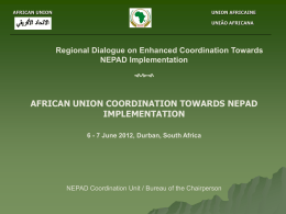 African Union Coordination towards NEPAD Implementation