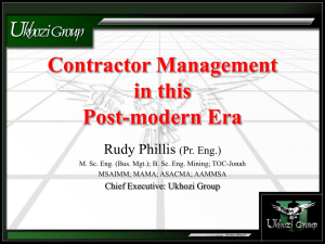 Contractor Management 2 - In this post-modern era