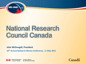 National Research Council John McDougall