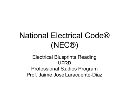 Conference National Electrical Code (NEC®)