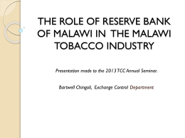 EXPORTS MONITORING - Tobacco Control Commission