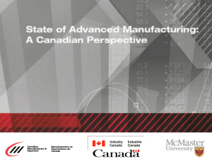 The manufacturing sector outpaces all other industries in Canada