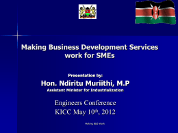 (kim) annual business awards - The Institution of Engineers of Kenya
