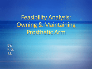 Feasibility Analysis: Owning & Maintaining Prosthetic Arm
