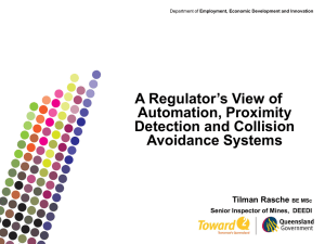 A Regulator`s View of Automation, Proximity Detection and Collision