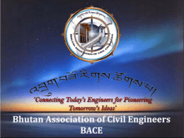 Core Group for the Bhutan Association of Civil Engineers