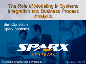 The Role of Modeling in Systems Integration and - CIMug