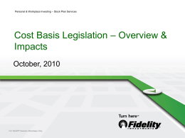 Cost Basis Legislation Overview