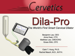 Smart Cervical Dilator - Biomedical Engineering