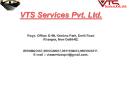 - VTS Services Pvt. Ltd.