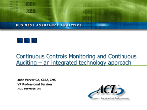Continuous Controls Monitoring and Continuous Auditing