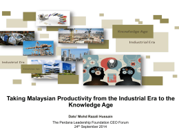 PRODUCTIVITY REPORT 2010/2011 - Perdana Leadership Foundation