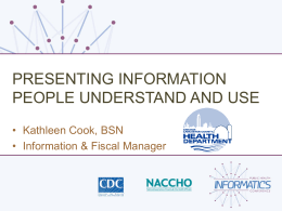 Presenting Information People Understand and Use (2nd)