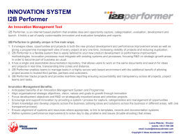 Innovation System – i2B Performer PDF
