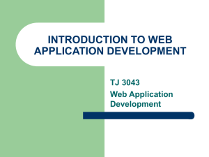 introduction to web application development - Ar