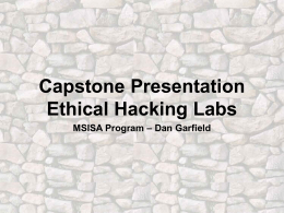 Ethical Hacking Labs