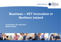 Business – VET Innovation in Northern Ireland
