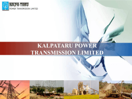 PowerPoint Template - Kalpataru Power Transmission Limited