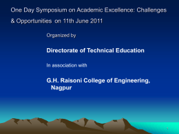 Expectations of DTE from Engineering Institutions in Maharashtra