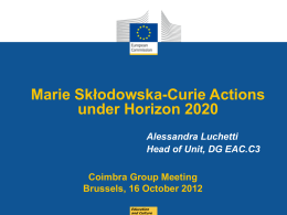 Marie Skłodowska-Curie Actions under Horizon