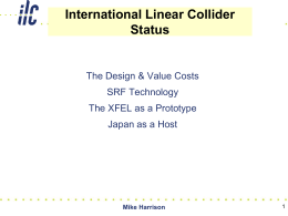 ILC Global Design Effort & Japanese hosting proposal
