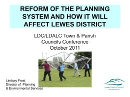 Lindsay Frost - Lewes District Council