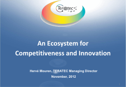 The Teratec initiative