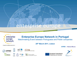 Enterprise Europe Network in Portugal