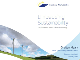 The Business Case for Small Wind Energy