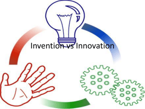 4. Invention vs Innovation