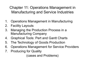 Chapter 11: Operations Management in Manufacturing and Service