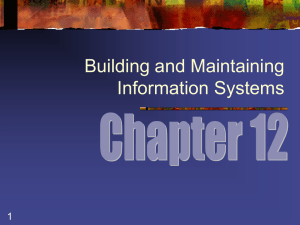 Building and Maintaining Information Systems