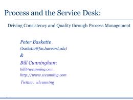 2010 04 16 HDI Service Desk and Processes