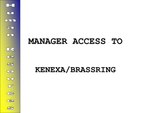 KENEXA/BrassRing`s internal screens