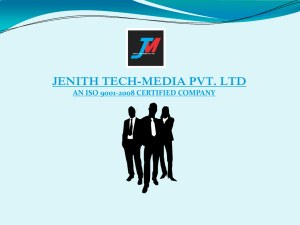 company profile ppt - Jenith Tech
