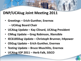 Overview UCAIUG AND THE sgip