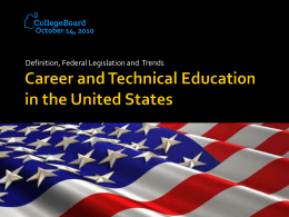 U.S. Vocational Education System