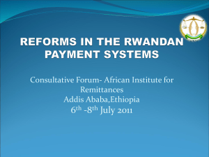 THE RWANDAN PAYMENT SYSTEM