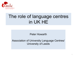 New to Teaching - Association of University Language Centres