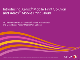 Mobile Print Cloud / Solution