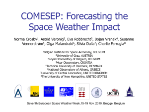 COMESEP: Forecasting the Space Weather Impact